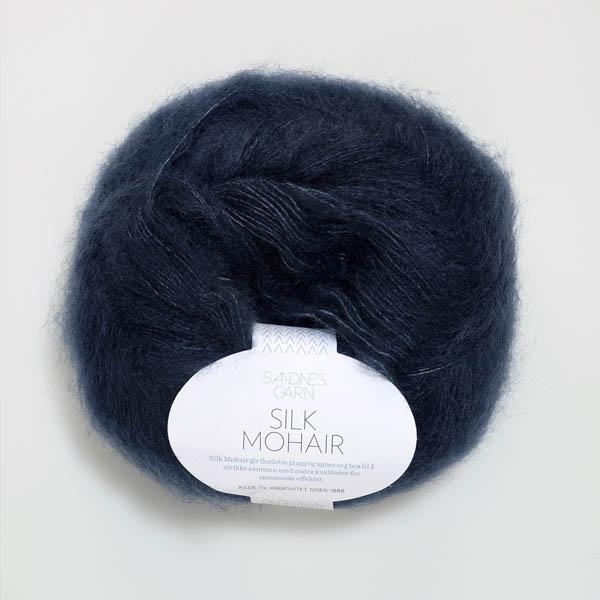 Silk Mohair 6081 dyp blå