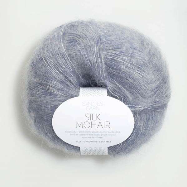 Silk Mohair 5835 blåmelerad