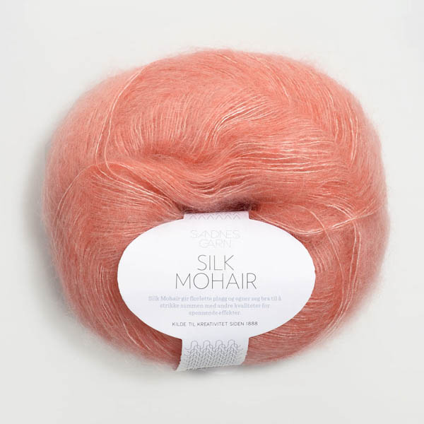 Silk Mohair 4217 korall