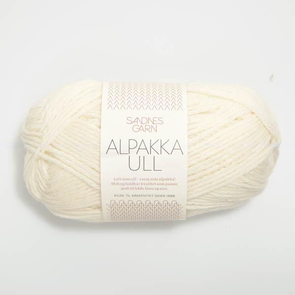 Alpakka Ull 1002 vit