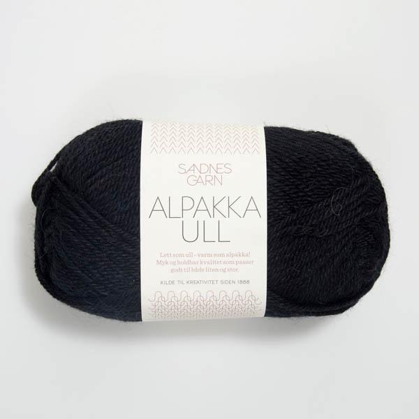 Alpakka Ull 1099 svart
