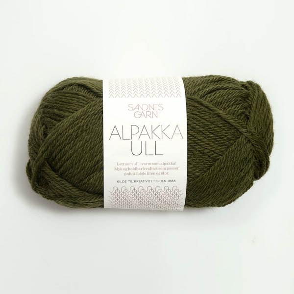 Alpakka Ull 9573 mossgrön