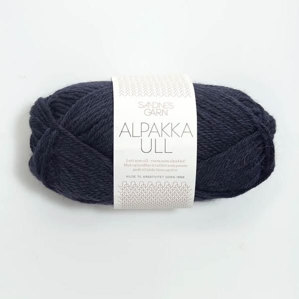 Alpakka Ull 6081 midnattsblå