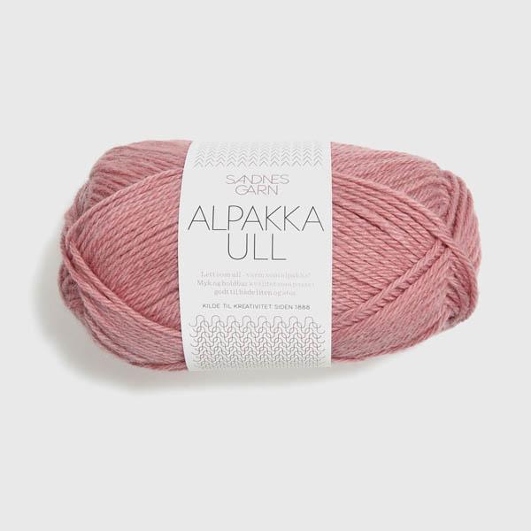 Alpakka Ull 4023 stövet gammelrosa