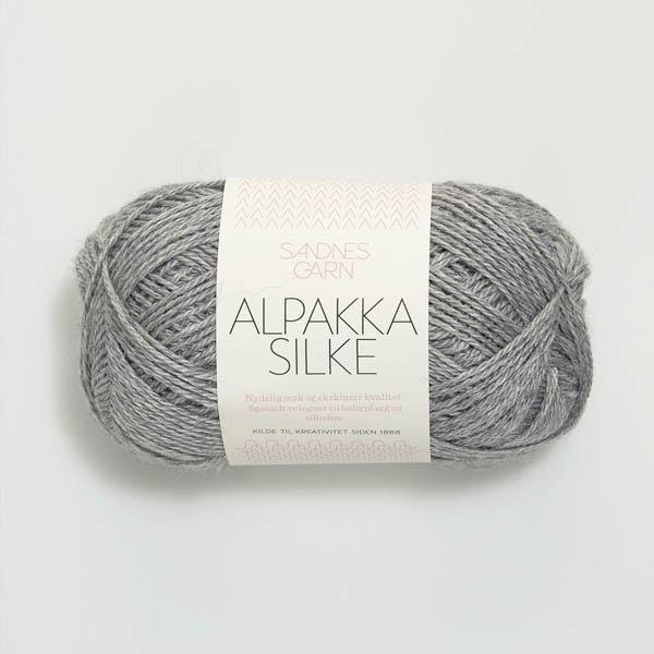 Alpakka Silke 1042 lys gråmelert