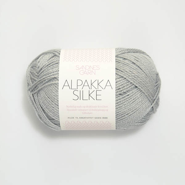 Alpakka Silke 7521 lys gråblå