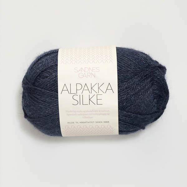 Alpakka Silke 6081 dyp blå