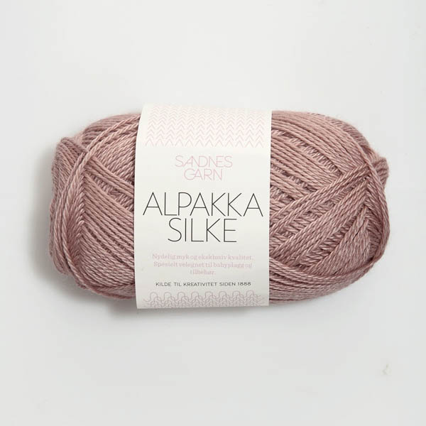 Alpakka Silke 4331 gammelrosa