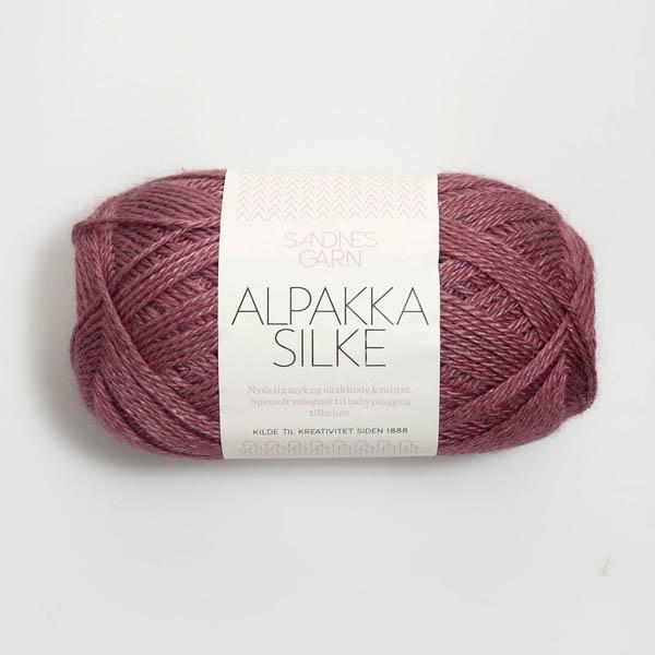 Alpakka Silke 4244 mörk gammelrosa