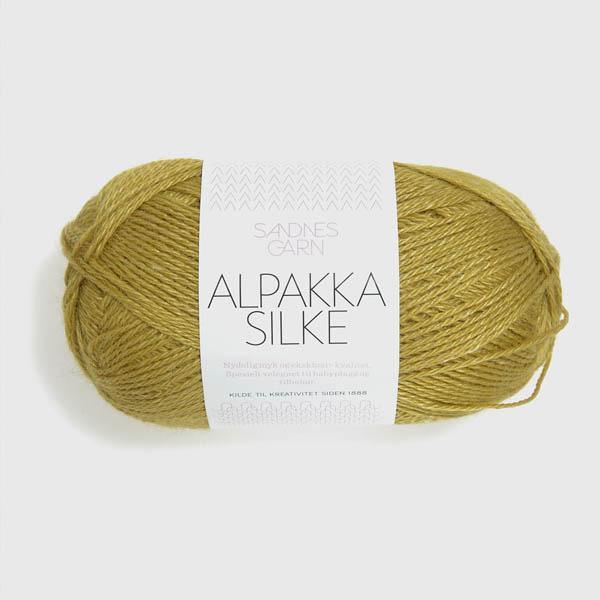 Alpakka Silke 2024 gulgrön