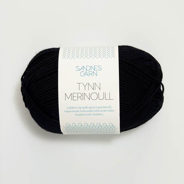 Tynn Merinoull 1099 svart