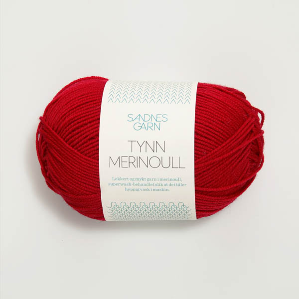 Tynn Merinoull 4219 röd