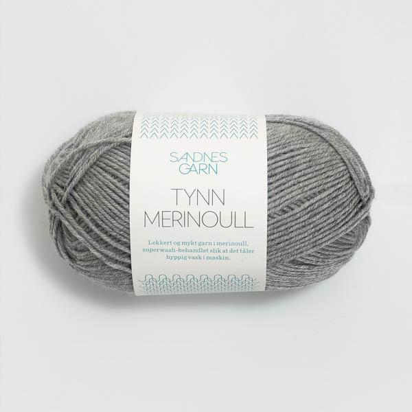 Tynn Merinoull 1042 gråmelerad