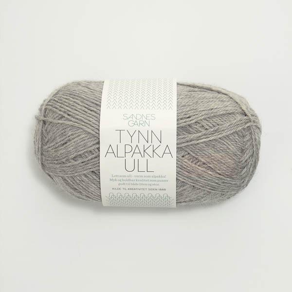 Tynn Alpakka Ull 1042 gråmelerad