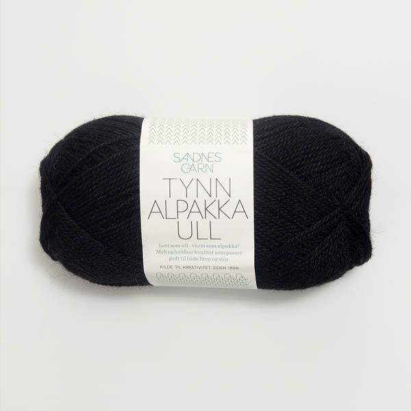Tynn Alpakka Ull 1099 svart