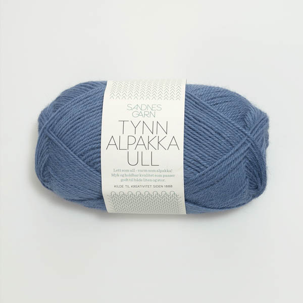 Tynn Alpakka Ull 6052 jeansblå
