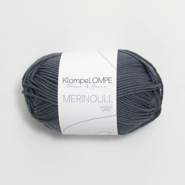 Merinoull 6061 mörk gråblå