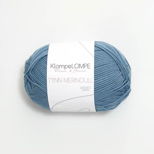 Tynn Merinoull 6033 jeansblå