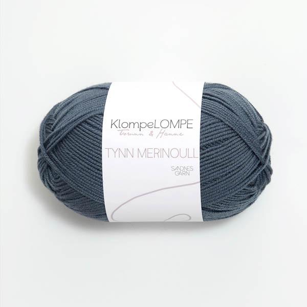 Tynn Merinoull 6571 blågrön