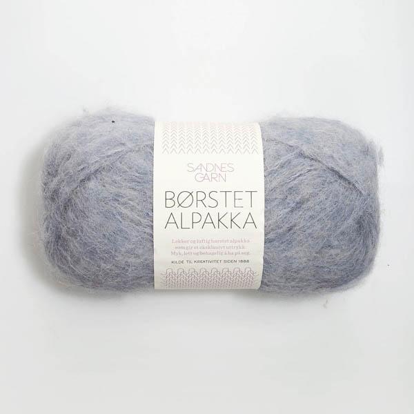 Borstad Alpakka 6220 ljus blågrå