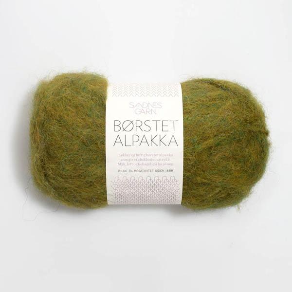 Borstad Alpakka 9645 bladgrön