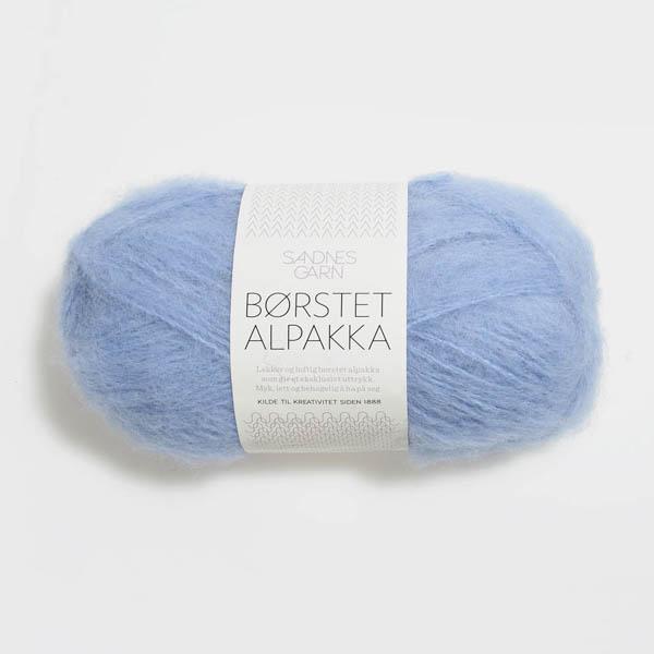 Borstad Alpakka 6003 ljusblå