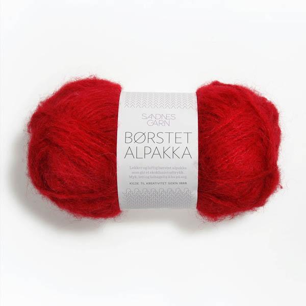 Borstad Alpakka 4219 röd