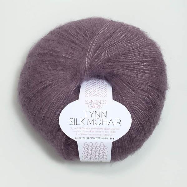 Tynn Silk Mohair 5042 støvet lila