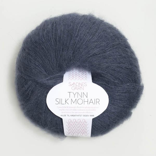 Tynn Silk Mohair 6081 dyp blå