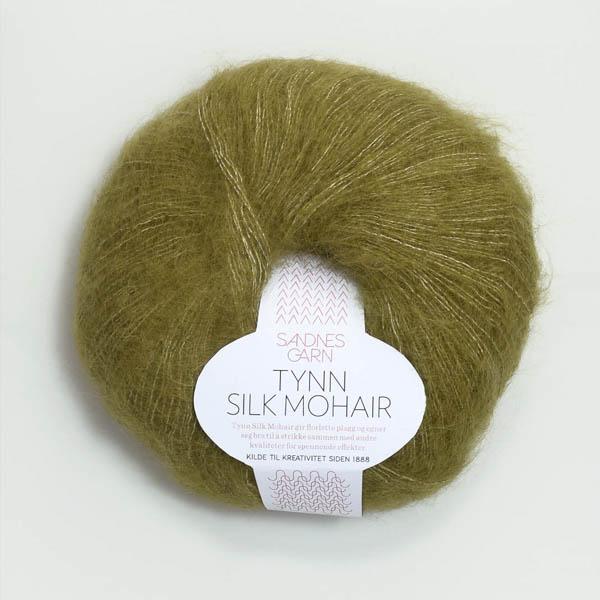 Tynn Silk Mohair 9850 olivgrön melerad