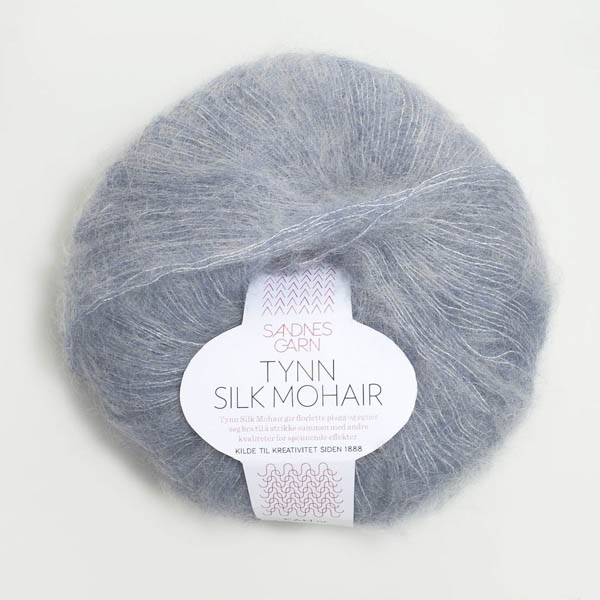 Tynn Silk Mohair 5835 blå melerad