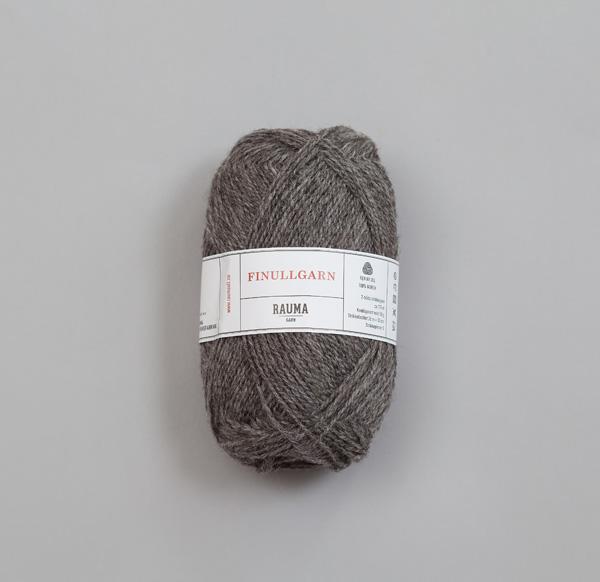 Rauma Finullgarn 0405 mörkgrå
