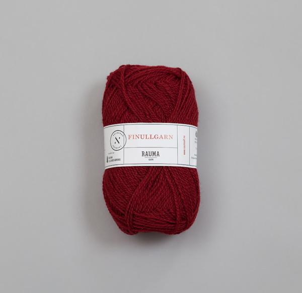 Rauma Finullgarn 0428 mustig röd