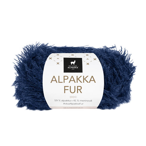 Alpakka Fur 204 mörkblå