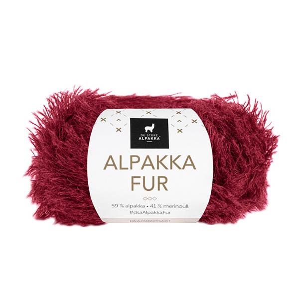 Alpakka Fur 210 mörkröd