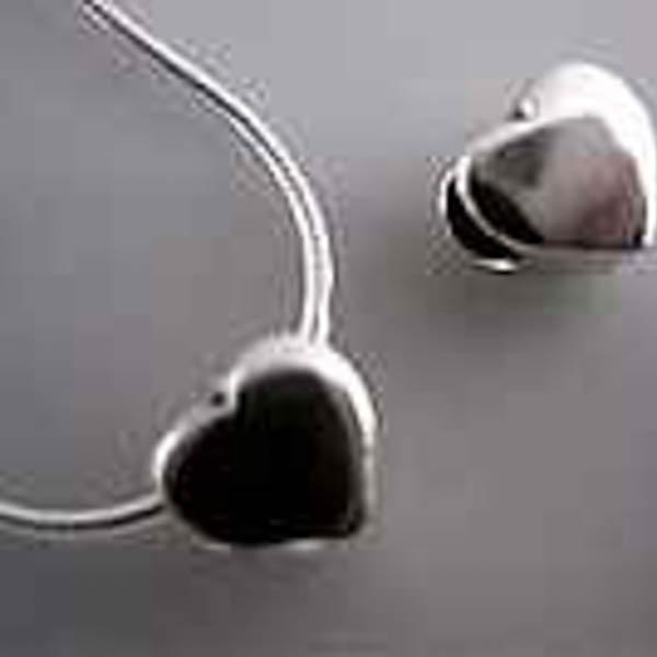 Silverberlock hjärta hål 3mm