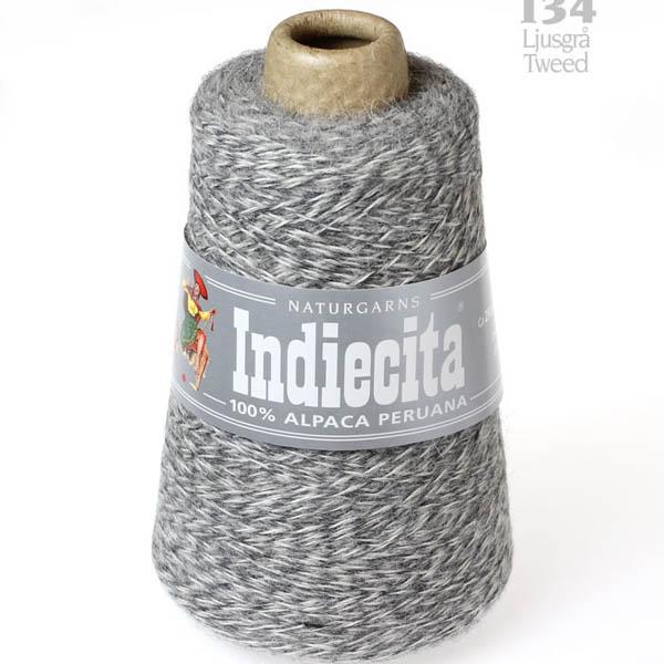 Indiecita kon 134 ljusgrå tweed