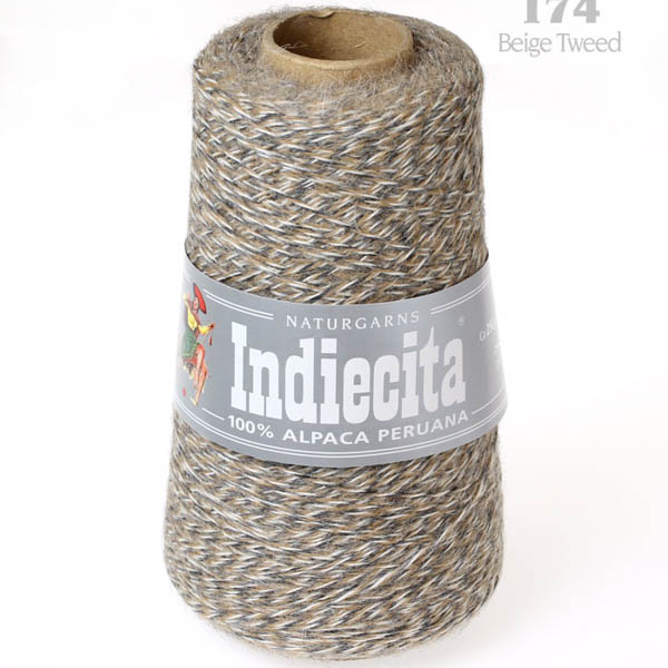 Indiecita kon 174 beige tweed