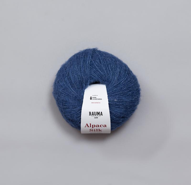 Rauma Alpaca Silk 274 blå
