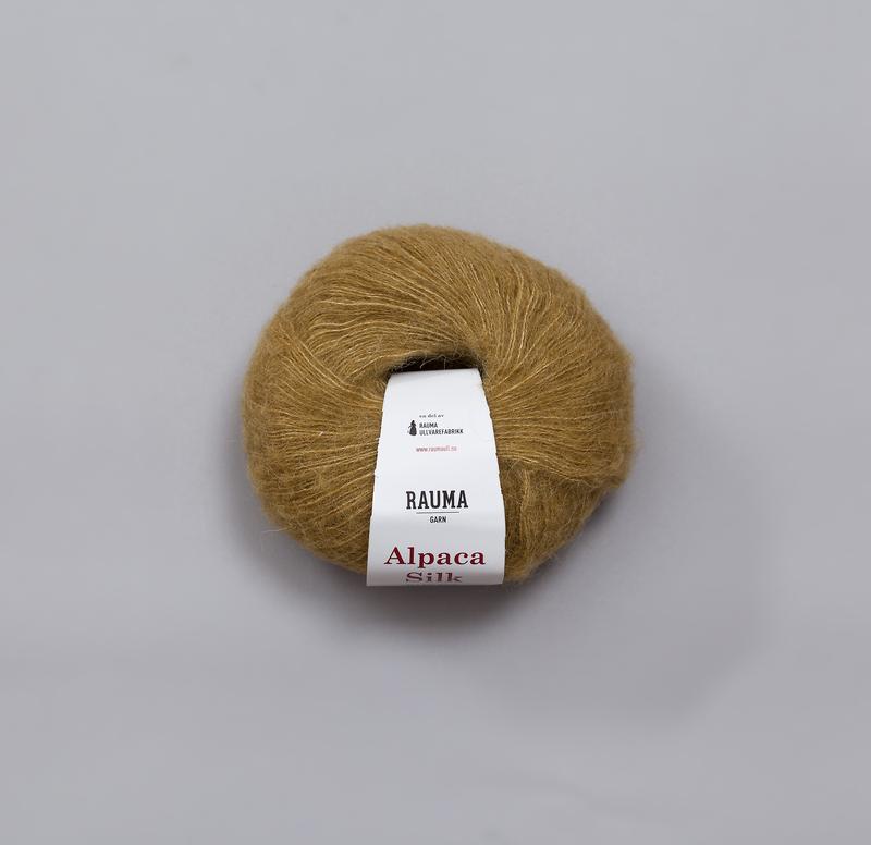 Rauma Alpaca Silk 0279 gulgrön