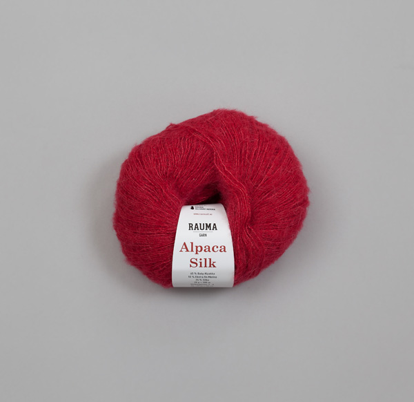 Rauma Alpaca Silk 0877 hallonröd